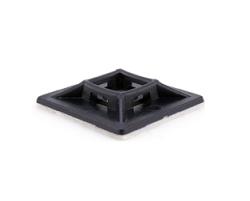 Площадка для кабельных стяжек черная 20х20 (100 шт)