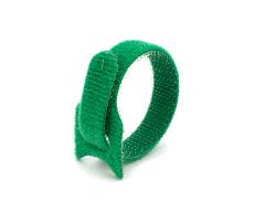 Кабельная стяжка липучка зеленая 16х210 (20 шт)